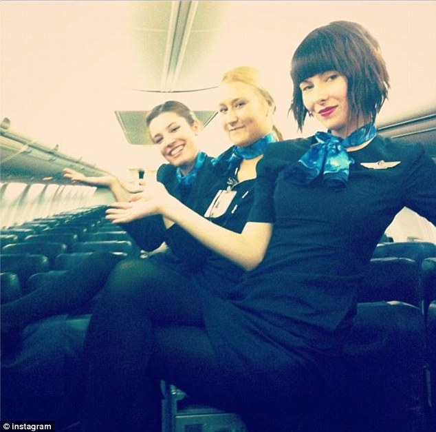 Because airlines go to great lengths to protect their image, some say the girls could lose their jobs for posing in uniform