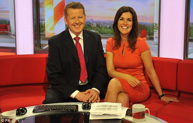 Sitting pretty: Susanna's previous role at BBC Breakfast saw her put on a much more leggy display