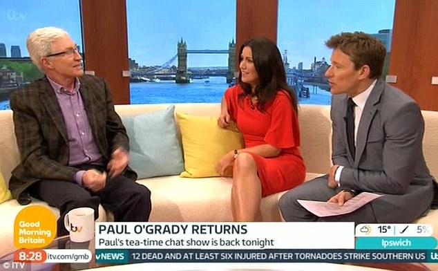 Much better! Susanna later got her legs out as she and Ben interviewed Paul O'Grady