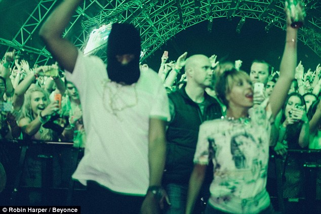 Dancing to the music: The couple enjoyed the Coachella Valley Music and Arts Festival a couple weekends ago