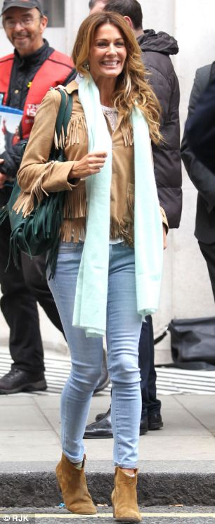 To kick off her new career, Kirsty Bertarelli appeared on Madeley on Sunday, Richard Madeley's Radio 2 show and was spotted leaving the recording studio looking relaxed in jeans and a cowboy jacket