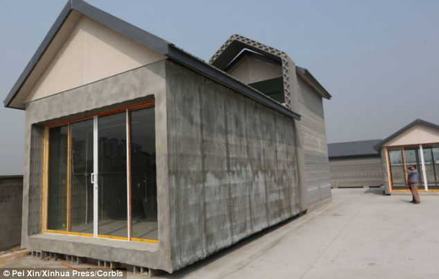 Press print: A company in China appears to have built 10 detached houses within 24 hours, using giant 3D printers and a quick drying concrete mixture composed of waste materials. The technique could one day be used to construct skyscrapers and villas, according to the ambitious firm