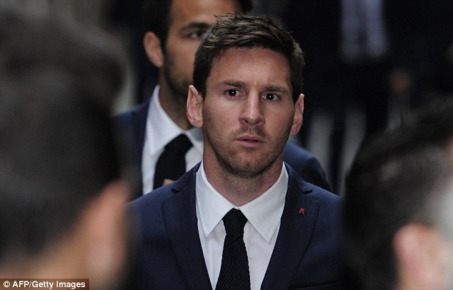For you: Star striker Lionel Messi scored for Barca on Sunday before dedicating his goal to Vilanova