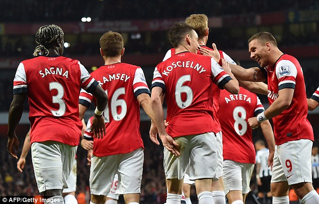 Breeze: Arsenal cruised past Newcastle and were barely tested a the Emirates
