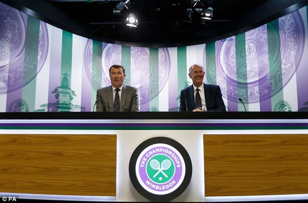 Announcement: Wimbledon chief executive Richard Lewis (right) and chairman Philip Brook (left)