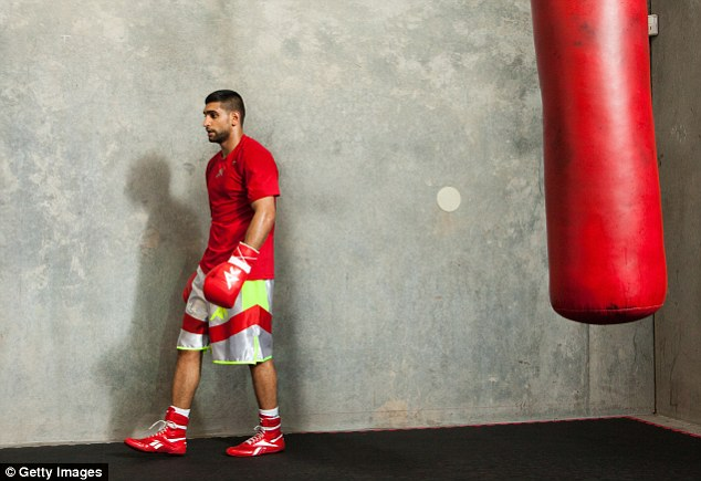 Sqeamish: Khan revealed that his wife never watches his fights - and won't be starting now she's pregnant
