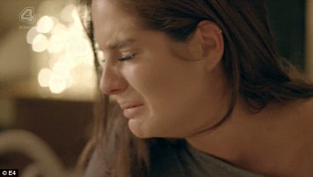 Heartbreak: Alexandra 'Binky' Felstead sobs during her heart-to-heart with cheating boyfriend Alex Mytton on Made In Chelsea