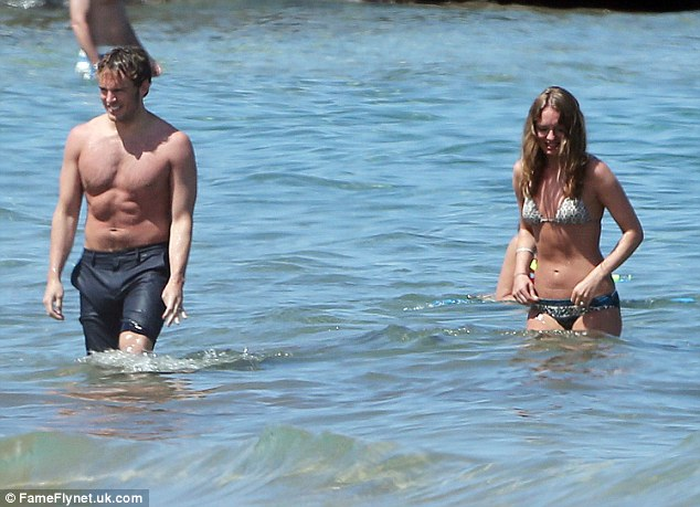 She's got it: Laura, who married Sam last summer, looked incredible in a triangle string bikini