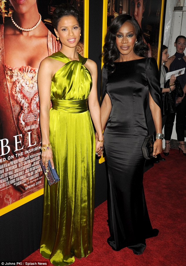 Women in film: Gugu Mbatha-Raw poses with Belle director Amma Asante