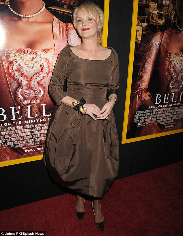 Co-star: Miranda Richardson also attended the screening, and plays Lady Ashford in the film
