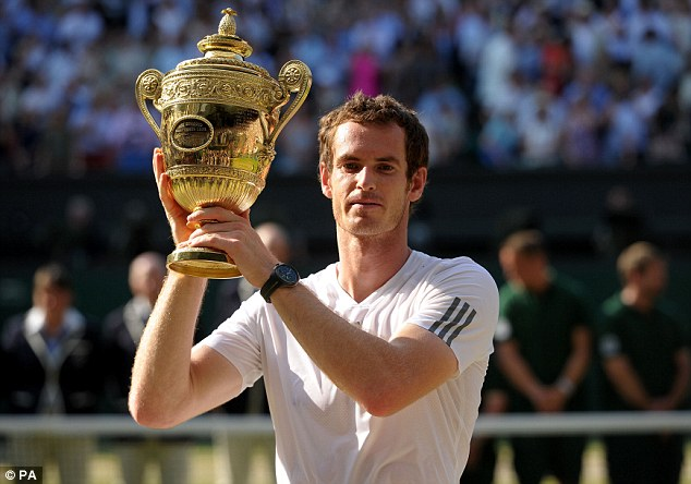 How can he ever top this? Andy Murray lifts the Wimbledon trophy for the first time last July