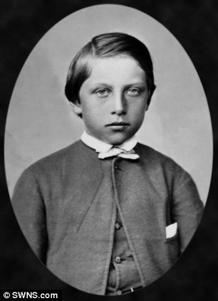 Kaiser Wilhelm II, pictured as a boy in 1869, was said to be throwing stones on Ilfracombe beach before the fight