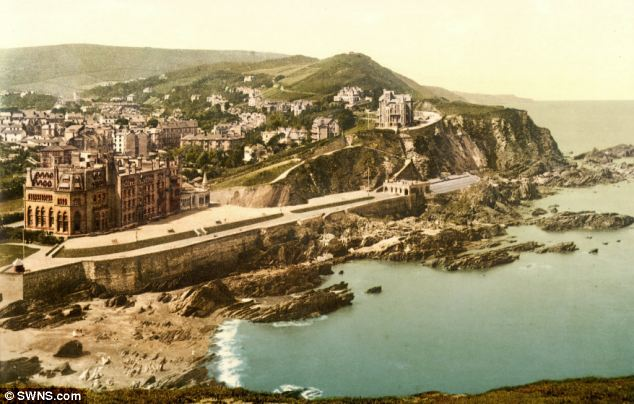The fight was said to have have happened on a beach near Ilfracombe, pictured in the 1890s