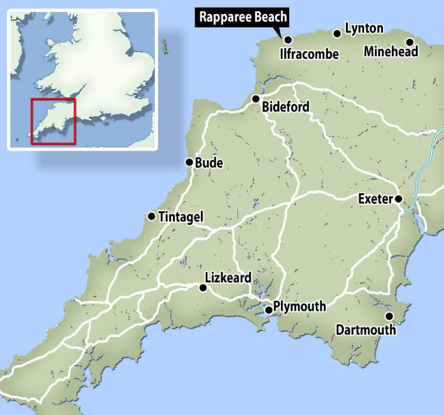 The fight happened on Rapparee beach near the picturesque Devon resort of Ilfracombe in 1978