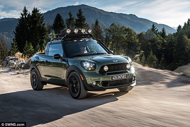 Mini has unveiled its most radical vehicle yet - a one-of-a-kind pickup truck. The Paceman Adventure is a four-wheel drive Mini concept which has had its rear seats replaced with a cargo area. It has been designed for transporting goods across gravel roads, through muddy tracks and on desert trails