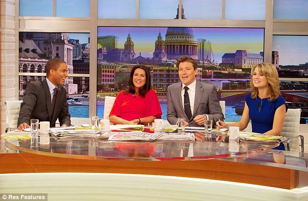 Teamwork: Reid with co-presenters Sean Fletcher, Ben Shephard and Charlotte Hawkins