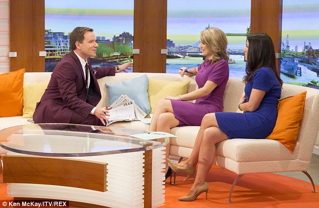 Sofa so good: There was initial criticism that Ms Reid spent too much time behind the show's desk, with her acclaimed legs hidden from view