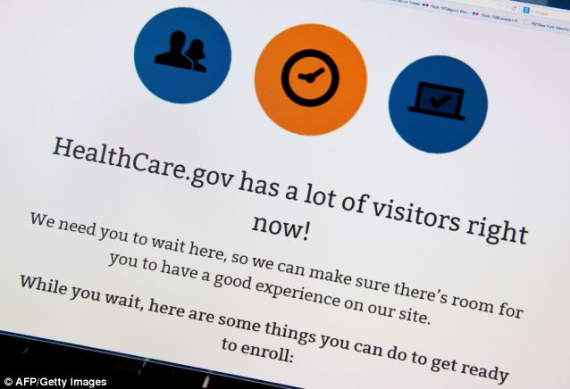 This image of Obamacare sign up site HealthCare.gov taken on March 31 is indicative of the problems many Americans trying to sign up for healthcare ran into throughout the winter