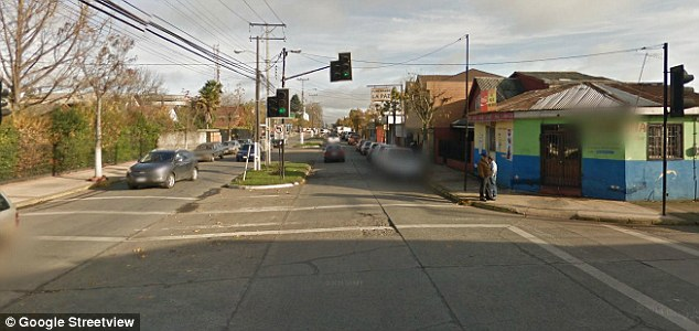 Horrific: The 23-year-old mother accused of the stabbing lives in Parral, Chile (general view pictured)