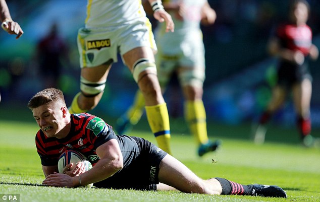 First choice: Owen Farrell is England's current fly-half but he will miss the start of their tour to New Zealand
