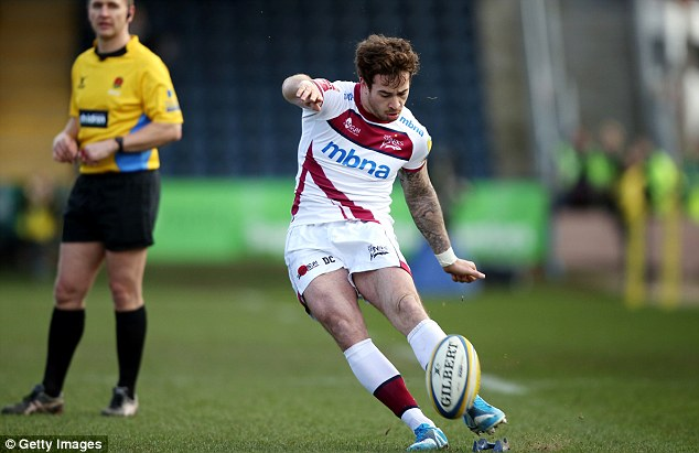 On the ball: Cipriani has scored 143 points in 18 games for Sale this season, with the club sixth in the table
