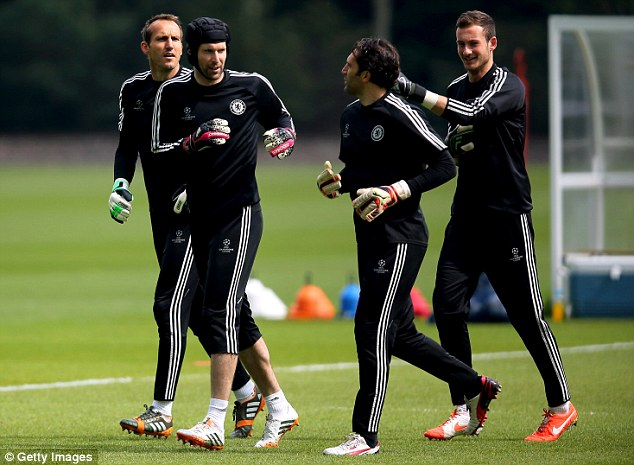 Ruled out: Petr Cech trained with Chelsea on Tuesday but will not be fit for Wednesday's match