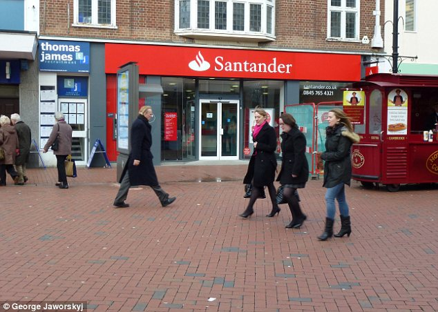 Santander bank: Santander claimed to be winning the current account war in the UK as it posted a 48 per cent increase in profits in the first quarter
