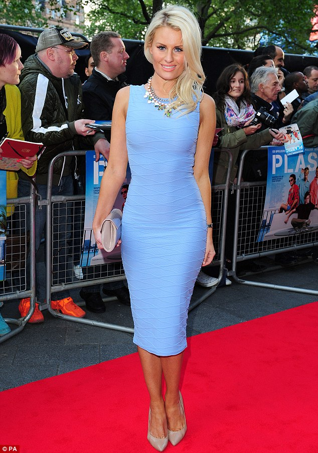 Looking good is the best revenge: Danielle showed off her figure in a powder blue bodycon number