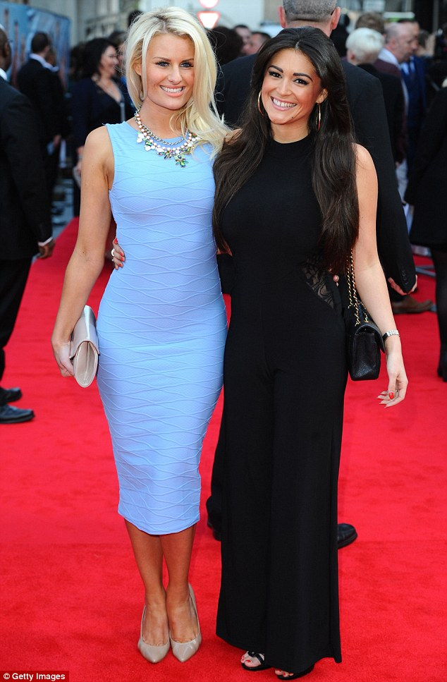 A friend in need: Danielle Armstrong and Casey Batchelor pose on the red carpet at the UK première of Plastic on Tuesday night