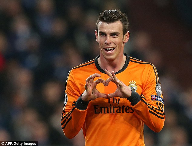 Trademarked: Gareth Bale and his trademark signature will appear on Cardiff's campaign to host a Euro 2020 package