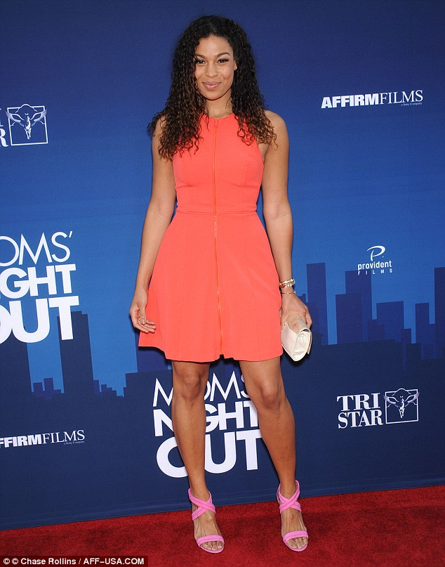 Youthful: Jordin wore her shoulder-length hair curly, with one side pulled back with a clip
