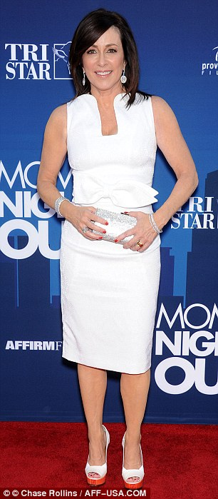 Lovelies: Sammi Hanratty bared her midriff in a cop top and skirt while Patricia Heaton was picture perfect in white