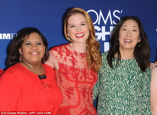 Showing their support: Chandra and Sandra came to watch their friend Sarah Drew
