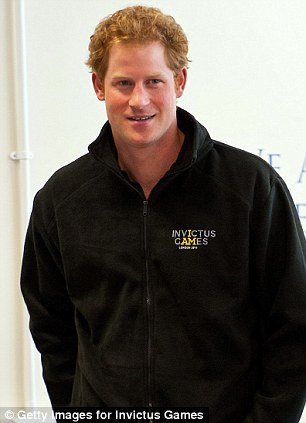Prince Harry pictured today at the launch of the Invictus Games selection process at Tedworth House