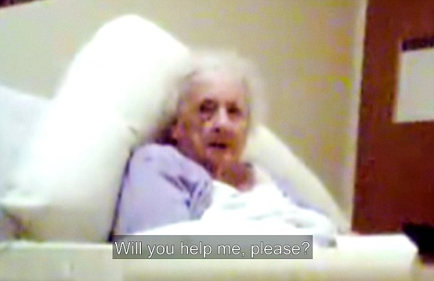 Ignored: 98-year-old great-grandmother Yvonne Grant begged to be taken to the toilet for up to two-and-a-half hours. Her carers apparently did not respond, despite being stationed directly outside her room