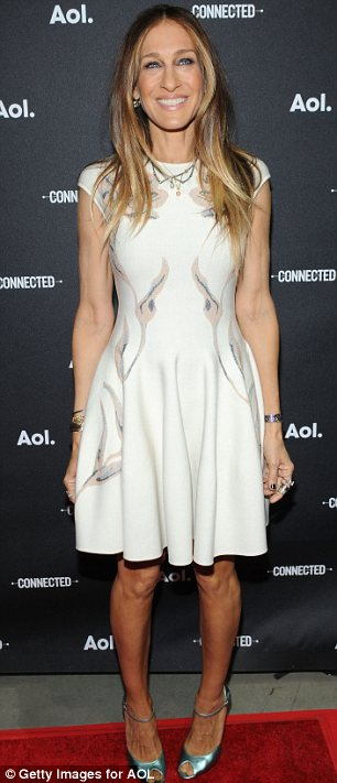 Leggy lovelies: Both Sarah Jessica Parker and Portia de Rossie showed off their toned legs in short dresses