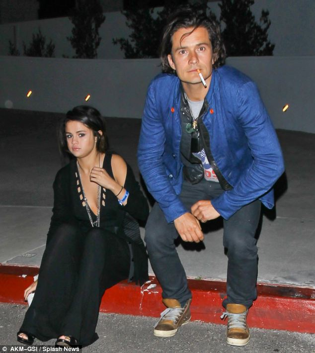 Rumbled? Orlando Bloom and Selena Gomez didn't look very impressed when they caught together after Chelsea Handler's new show at the L.A. Forum on Saturday