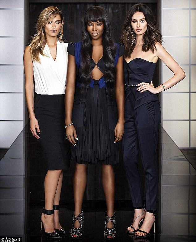 Queen of the catwalk: Naomi Campbell is on track to win her second The Face series against Cheyenne Tozzi and Nicole Trunfio