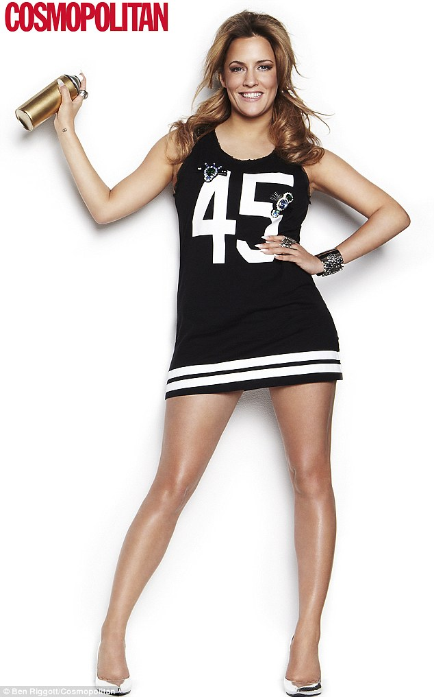 Body battles: Caroline Flack has opened up about her insecurities in a new interview with Cosmopolitan magazine