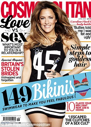 The full interview appears in the June issue of Cosmopolitan magazine