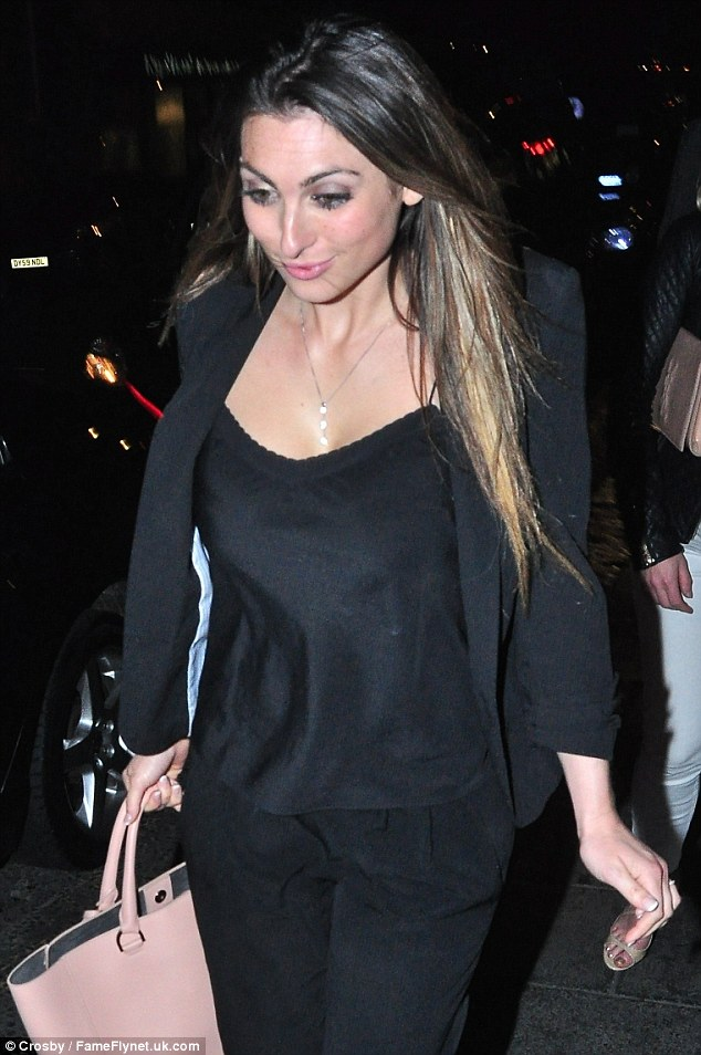Suits you: Luisa's little black outfit switched from AM to PM effortlessly