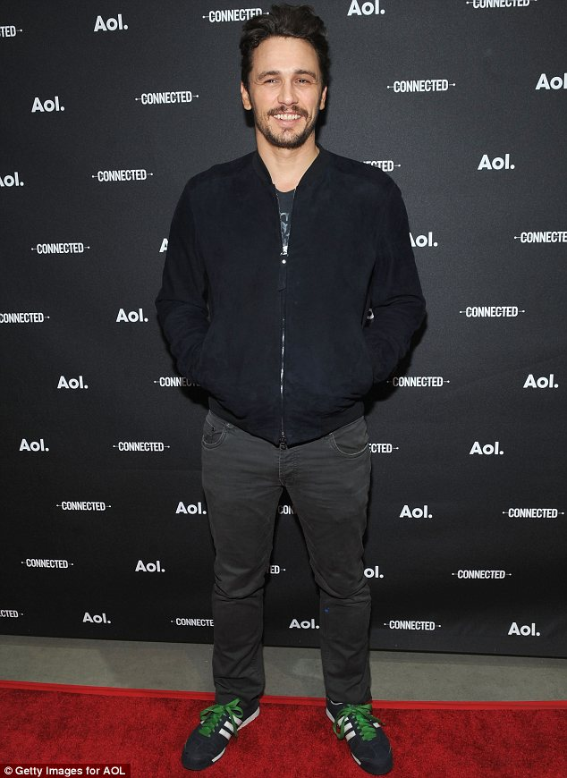 New venture: James was promoting his series Making A Scene With James Franco at an AOL NewFronts event on Tuesday