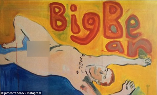 They're closer than we realised: James Franco has shared nude paintings he did of his friend Seth Rogen