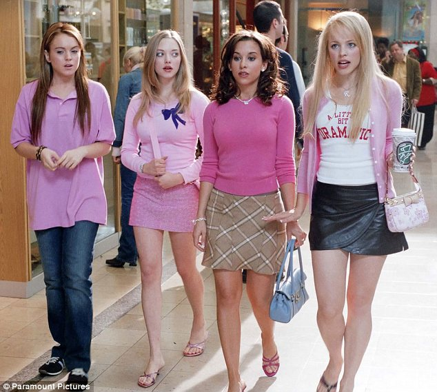 You can't sit with us: Wednesday marked the 10 year anniversary of the release of Mean Girls