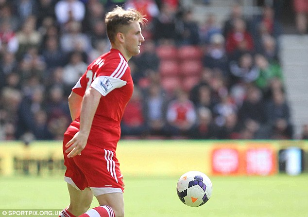 Watched: Southampton's Luke Shaw is a favourite with Chelsea's scouting set-up