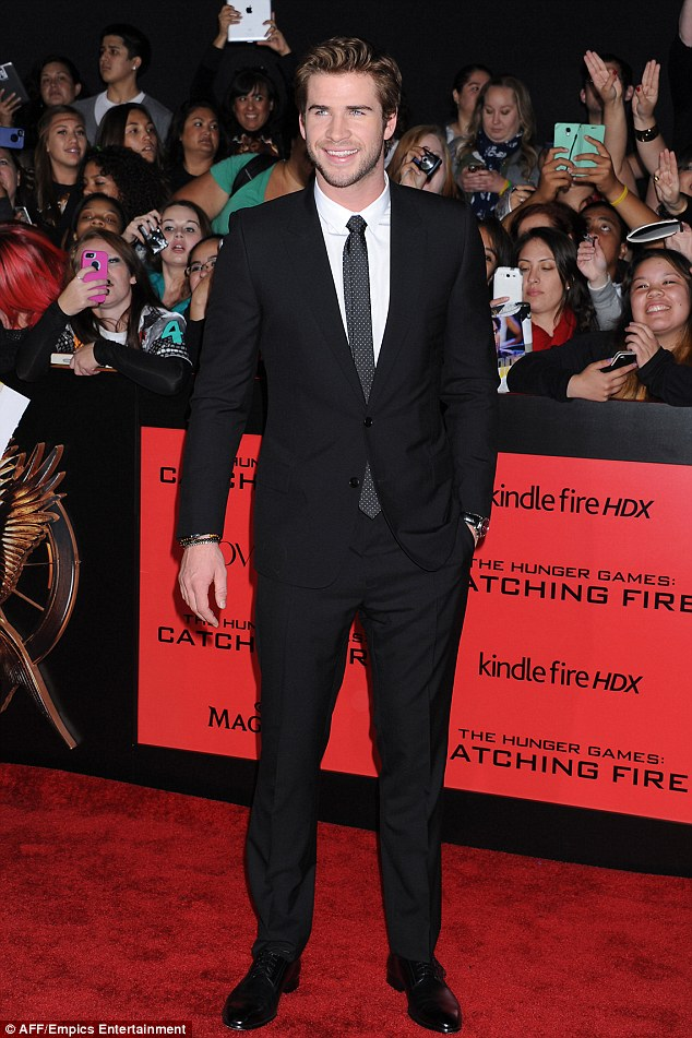 Good looking lad: The actor was a hit with the ladies when he attended the premiere of The Hunger Games: Catching Fire in Los Angeles, California