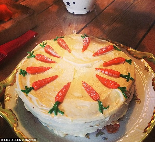 She spent 45 minutes on those carrots: Upon arriving home, Lily proved her baking skills by making a cake