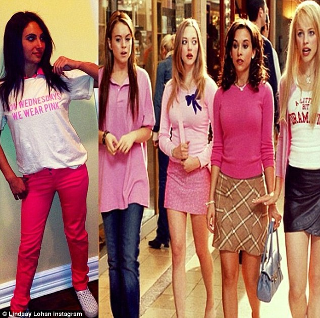 So fetch: Lindsay posted her own version of the classic movie image to include one of her fans on Instagram and made sure to shout out to creator Tina Fey, producer Lorne Michaels and her co-star Daniel Franzese