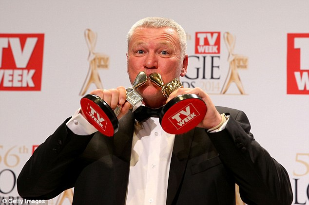 Larrikin: The 51-year-old was crowned the most popular person on Australian TV for hosting The Block, when he won the Gold Logie at the award night in Melbourne on Sunday. He also picked up a Silver Logie for most popular presenter