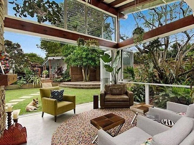 A place to call home: Cam and his wife previously lived in a five-bedroom bungalow, pictured, in Rosebery